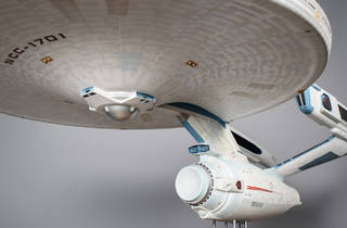 USS Enterprise miniature (Photograph: Courtesy Brady Harvey/Collection of Adam and Leslie Schneider)