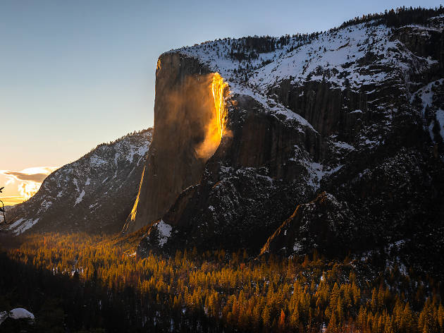 You can only see this 'firefall' at Yosemite once a year