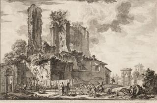 Veduta dell'avanzo del Castello
