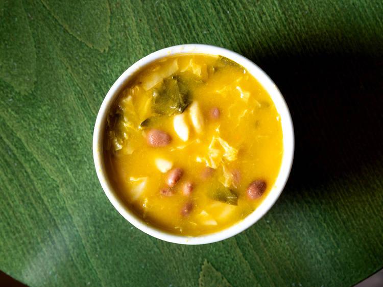 Sopa de feijão branco - A Tendinha