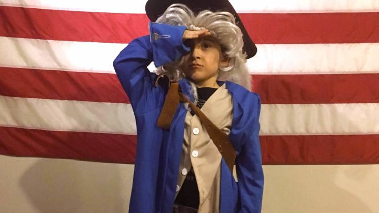 Young George Washington Presidents' Day