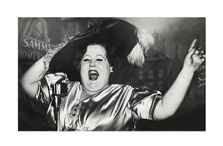 Weegee, Norma Devine is Sammy's Mae West, 1944