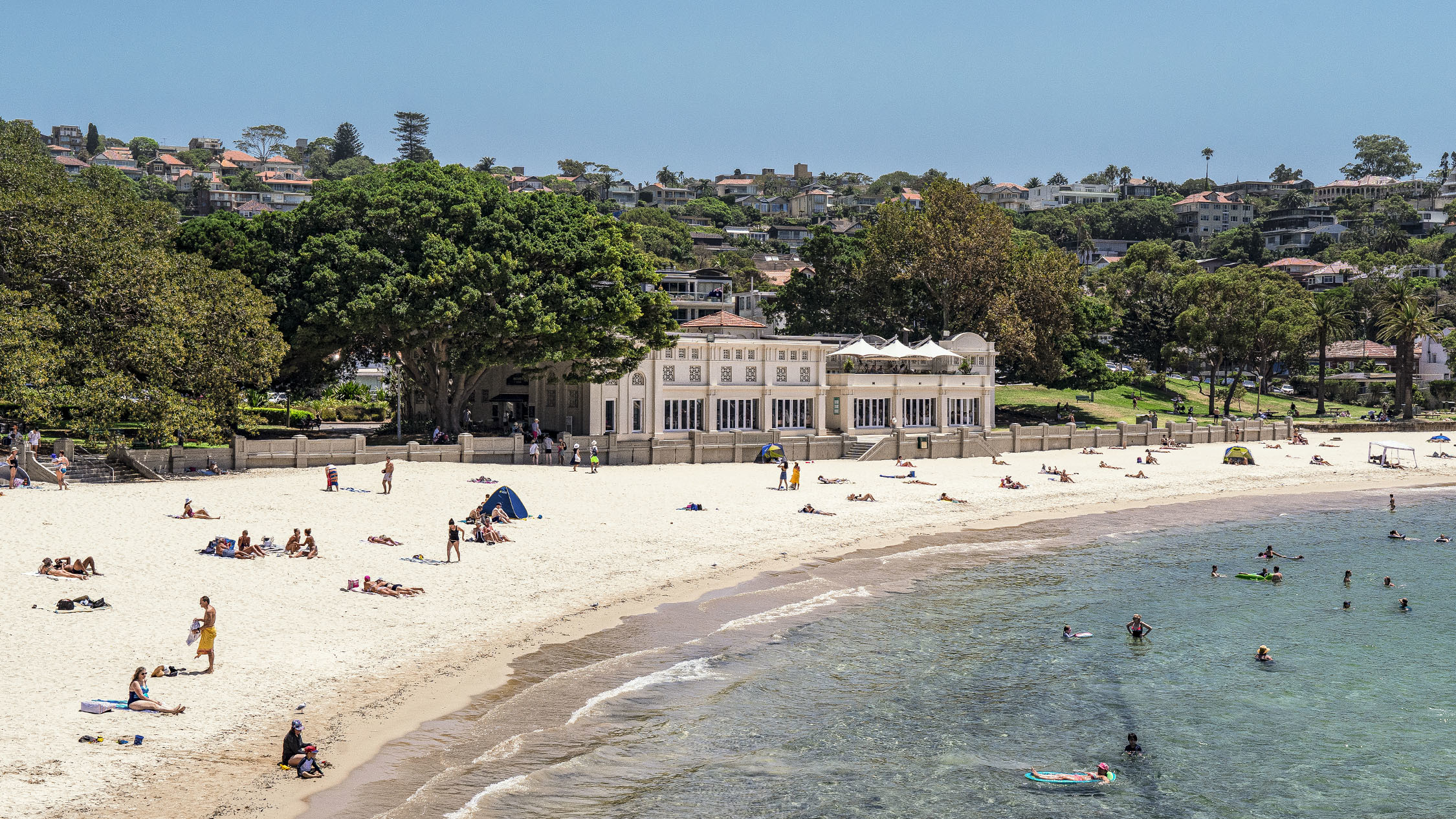 Building exterior with beach at Bathers' Pavillion