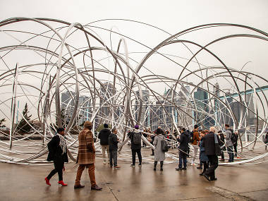 This giant doodle-like sculpture has taken over Brooklyn Bridge Park