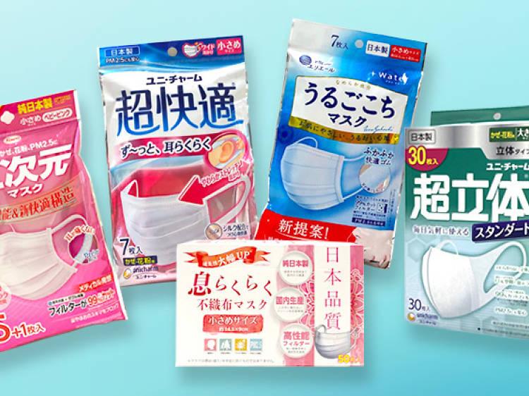 五大日本口罩大比拼
