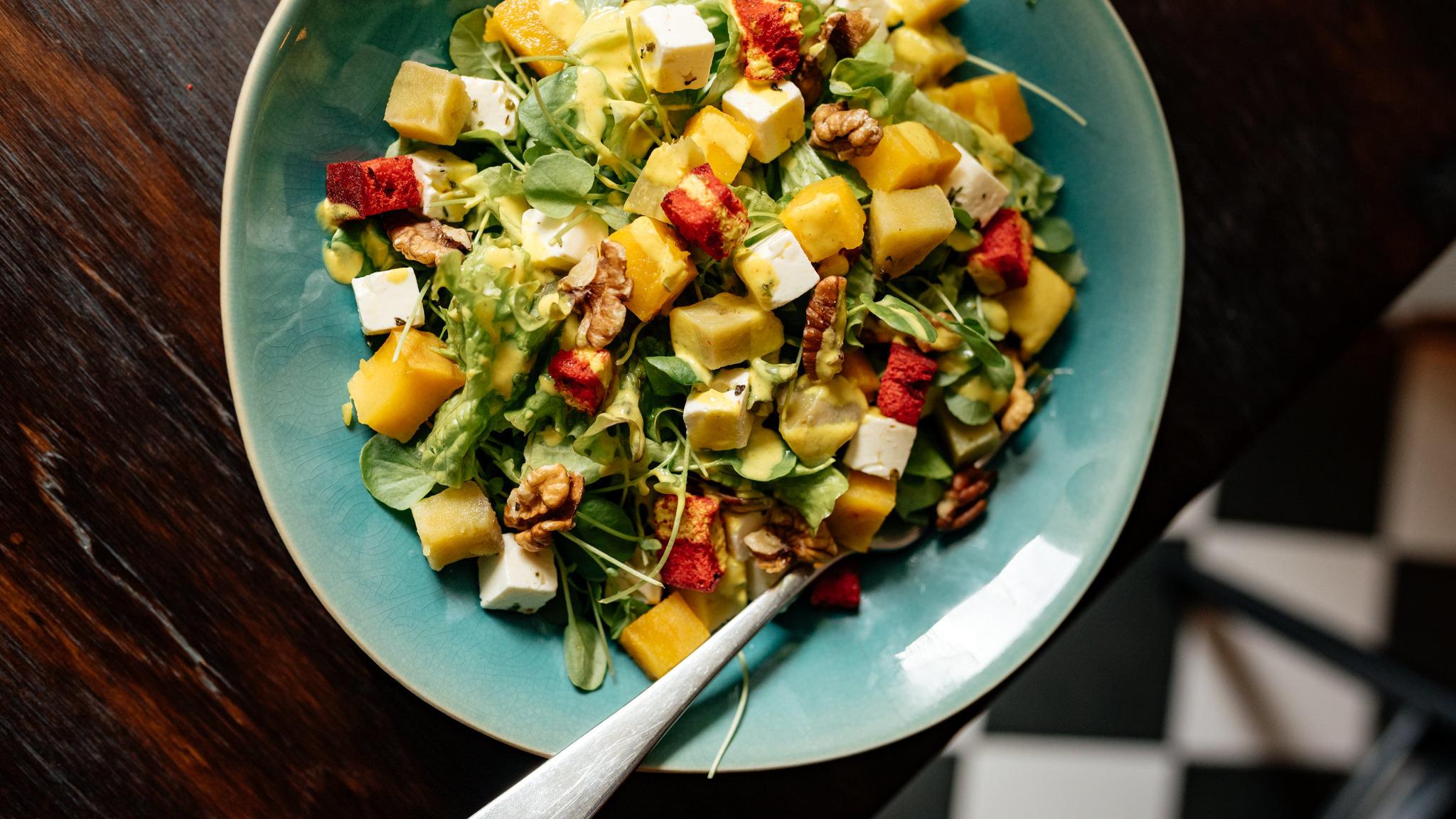 Salada de Queijo Feta e Agrião do Sauvage