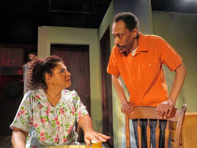 """Michael Rogers and Joyce Sylvester in New Federal Theatre's production of """"Two Can Play"""" by Trevor Rhone"""