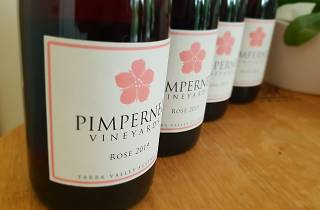 Pimpernell Winery bottles