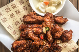 Fried chicken from Red Pepper Bistro