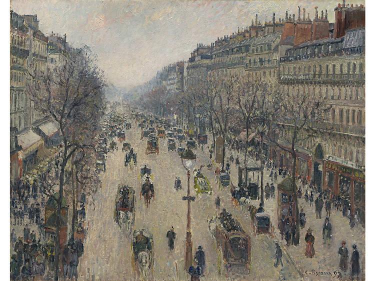 Camille Pissarro, 'Boulevard Montmartre, Morning, Cloudy Weather (Boulevard Montmartre, Matin, Temps Gris)' (1897)