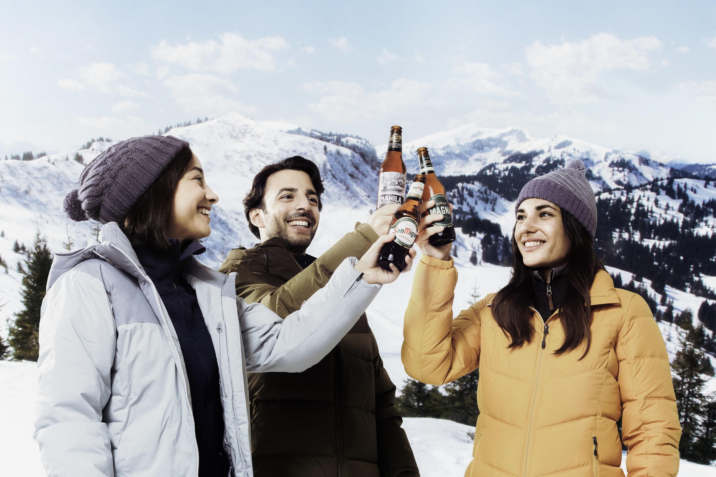 Subid a la nieve y disfrutad del San Miguel Snow Beer