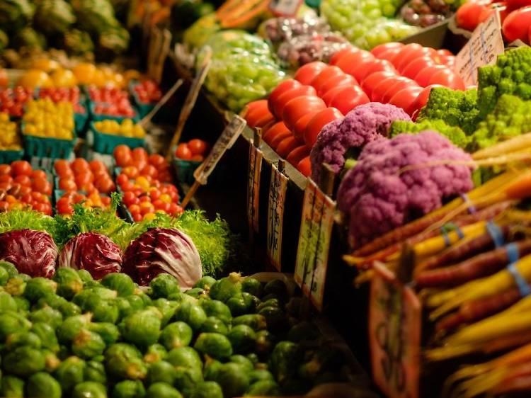 Locally-grown fruit and veg