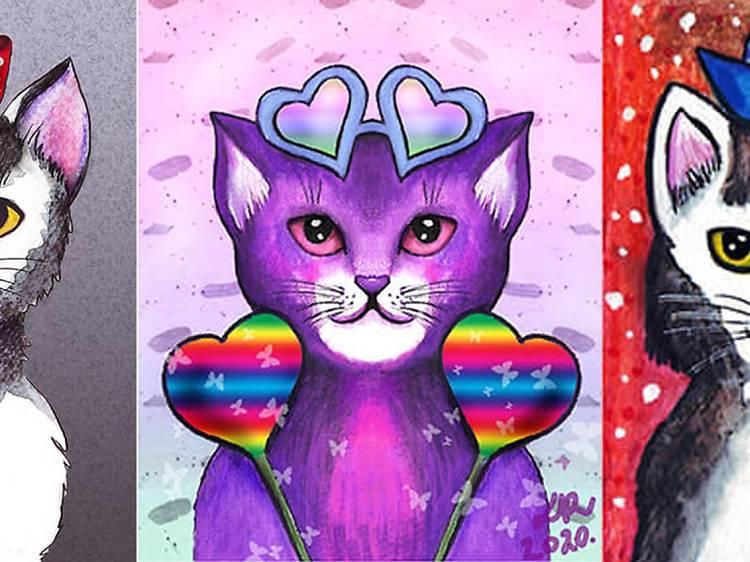 Love Cats Exhibition at Café Tunel