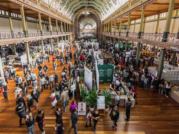 Big Vegan Market crowd at Royal Exhibition Building