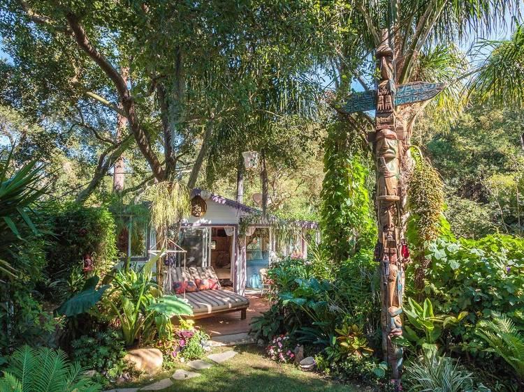 Tropical guest house, Topanga Canyon