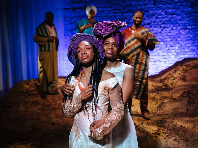 <p>Cherrelle Skeete and Ibinabo Jack in 'The High Table' at Bush Theatre</p>