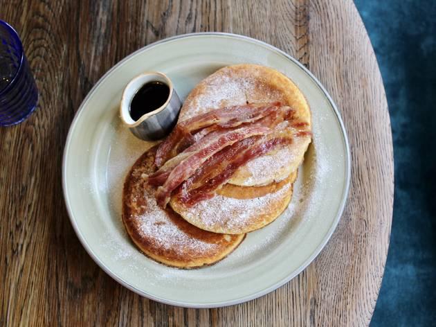 Bottomless Brunch Pancakes at Riding House Café