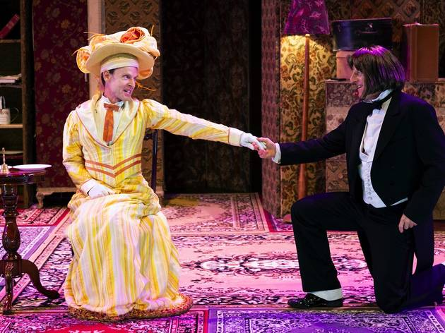 Actors on stage at The Importance of Being Earnest