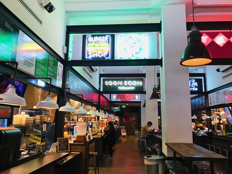 Corporation Food Hall in Downtown LA DTLA