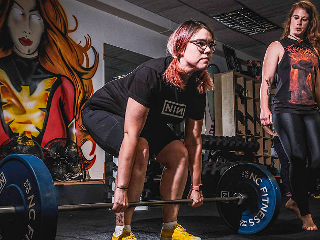 Deadlifts and Death Metal fitness class Melbourne