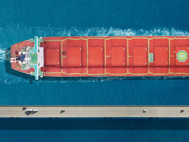 This photo of a bulk carrier won a category at the Sony World Photography Awards 2020