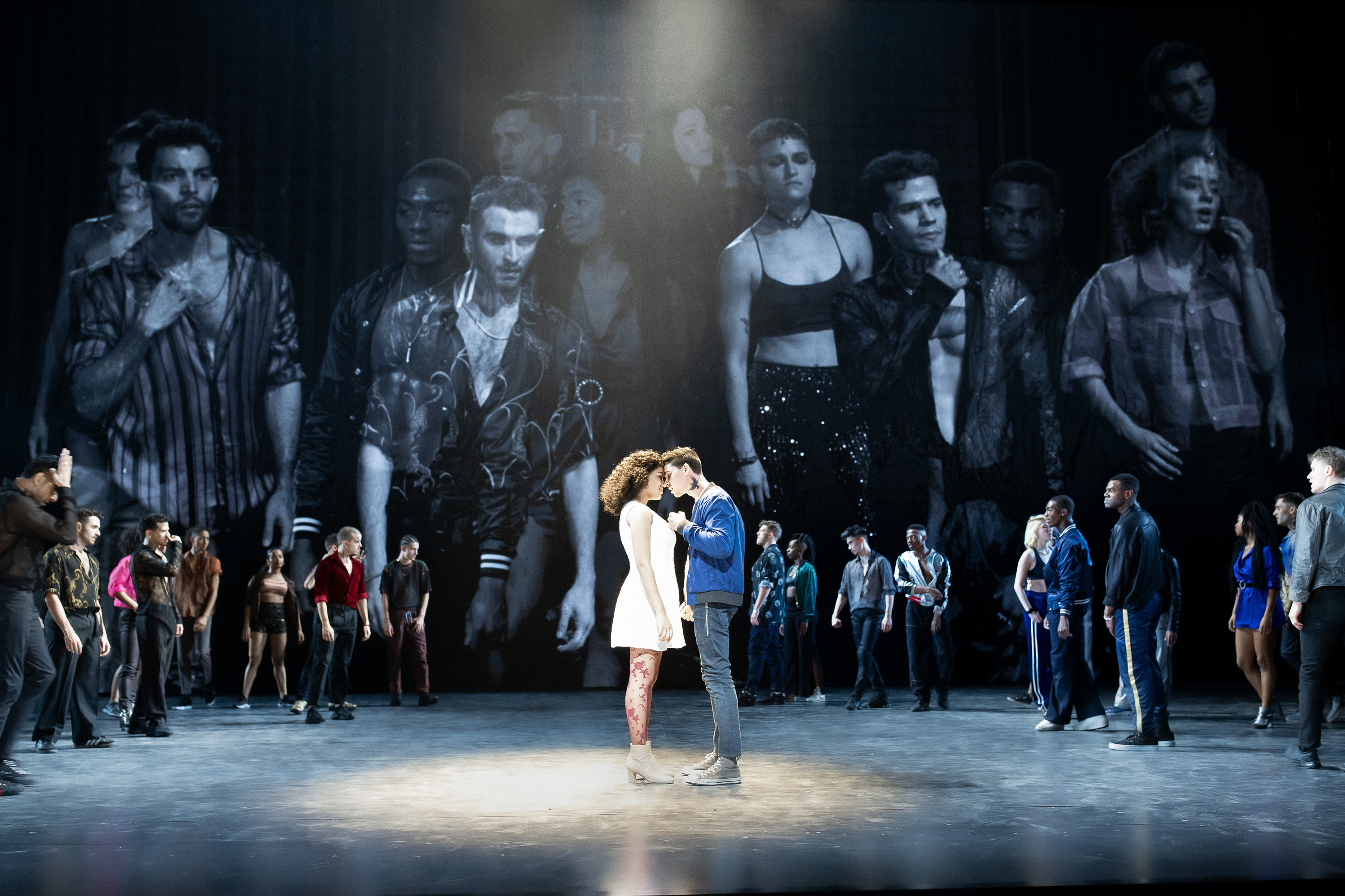 Shereen Pimentel, Isaac Powell and the cast of West Side Story