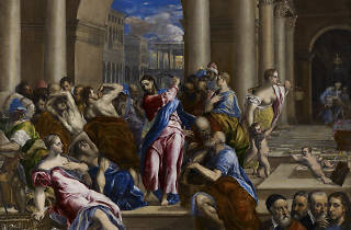 El Greco (Domenikos Theotokopoulos). Christ Driving the Money Changers from the Temple, about 1570.