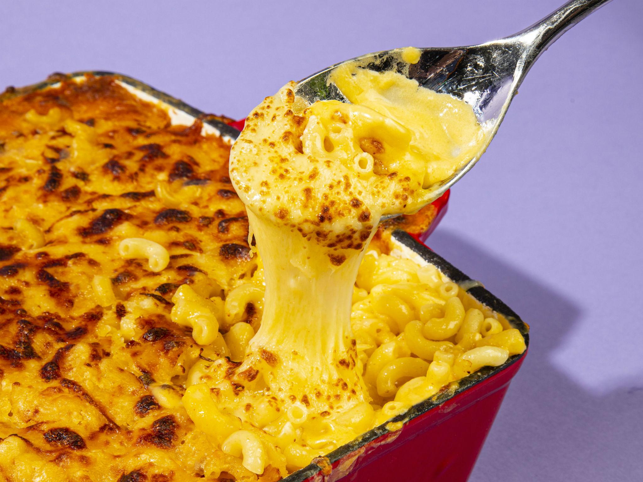 Comfort food mac 'n' cheese