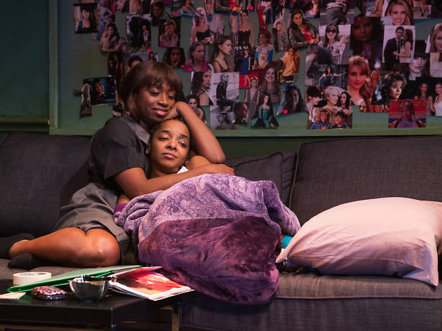 Montego Glover and Kara Young in MCC Theater's ALL THE NATALIE PORTMANS