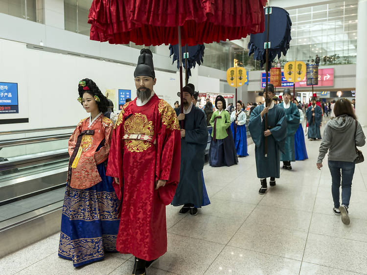 Watch a cultural spectacle in South Korea