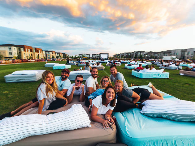 An outdoor cinema with beds is coming to NYC this summer