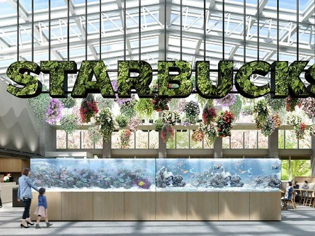 Tokyo's newest Starbucks is in a tropical greenhouse