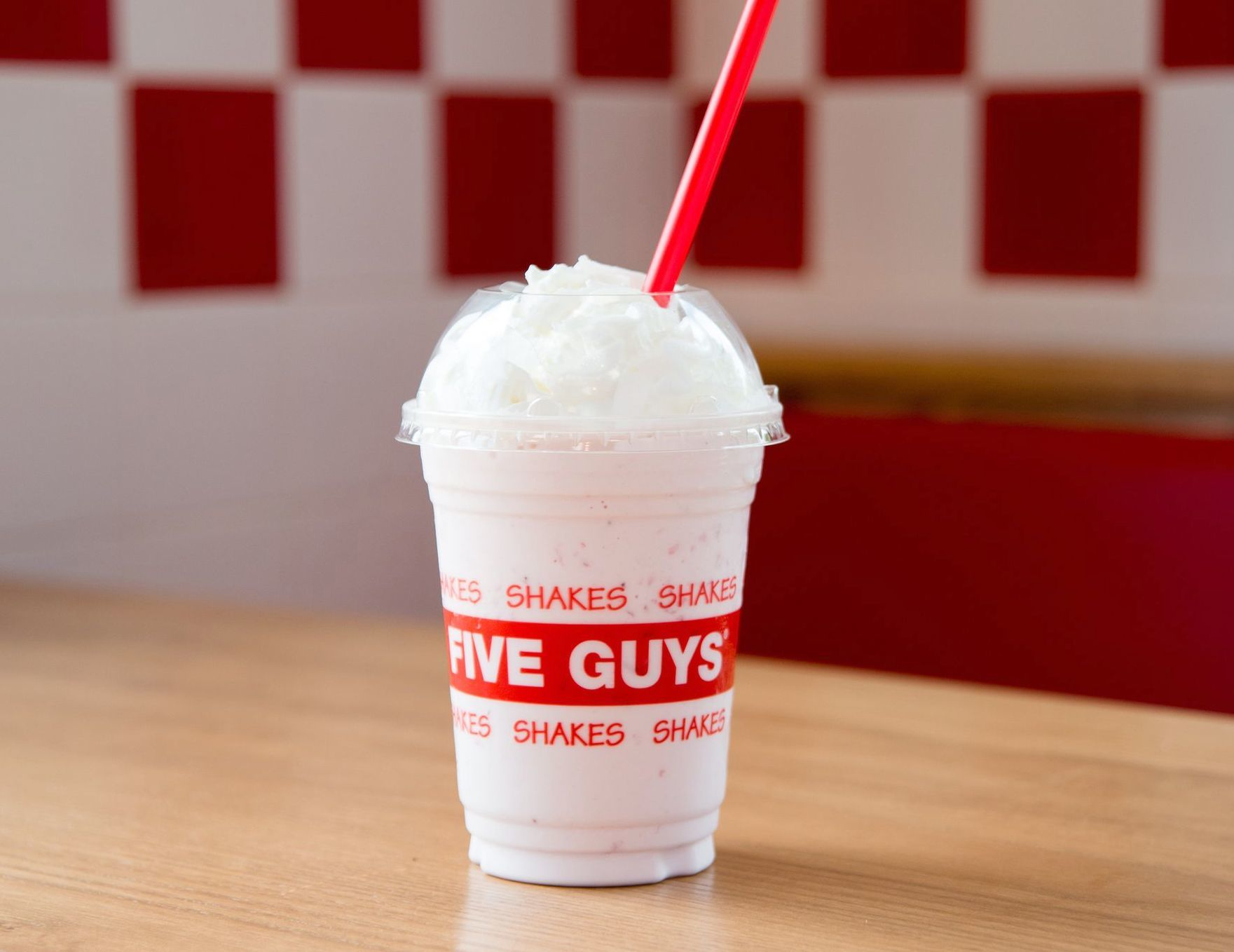Strawberry Milkshake at Five Guys