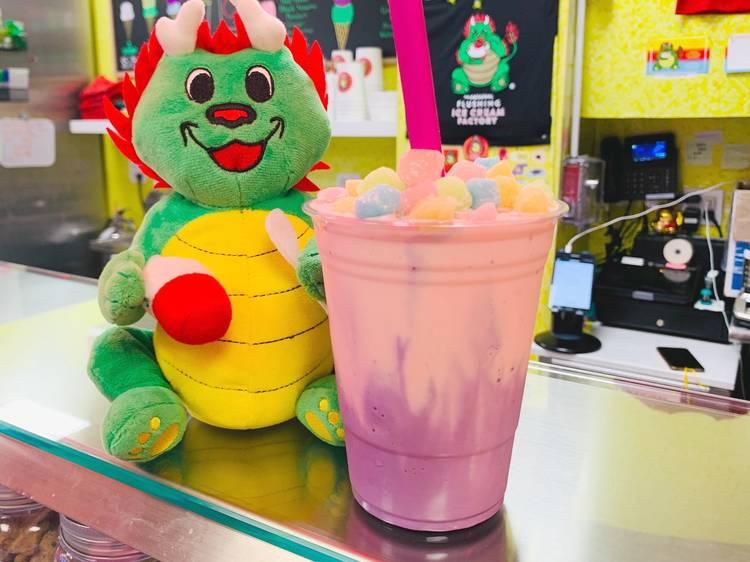 Taro and Strawberry Milkshake at Chinatown Ice Cream Factory