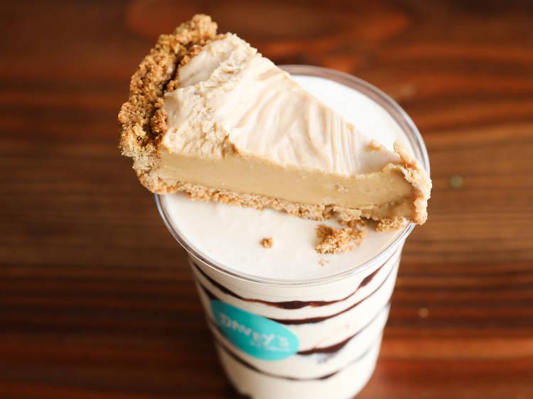 Pie Milkshake at Davey's Ice Cream