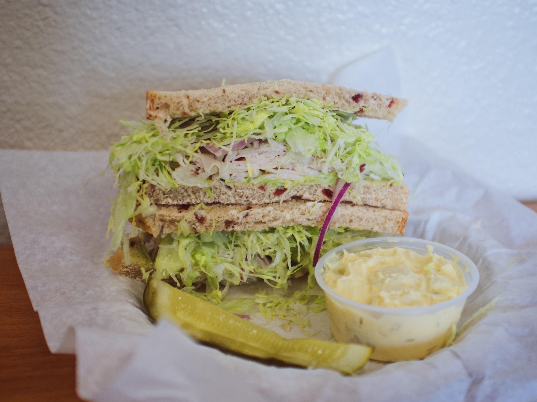 Aspen Mills Palm Springs bakery and bread sandwich
