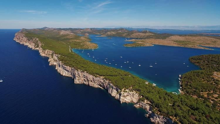 Lakes of Telašćica Nature Park, a bay in central Dalmatia