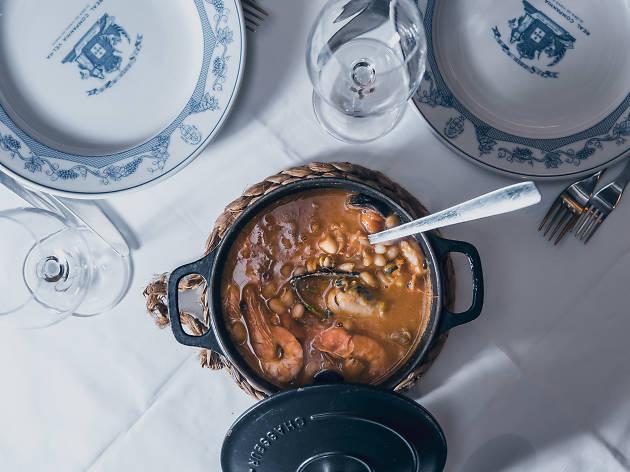 Restaurantes, Taberna dos Mercadores, Cozinha Tradicional, Feijoada de Marisco
