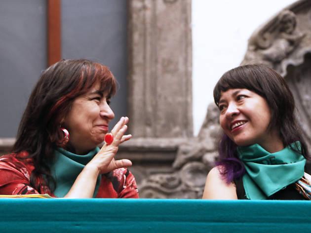 Ana Francis Mor y Paola Izquierdo en Conferencia Tiempo de Mujeres