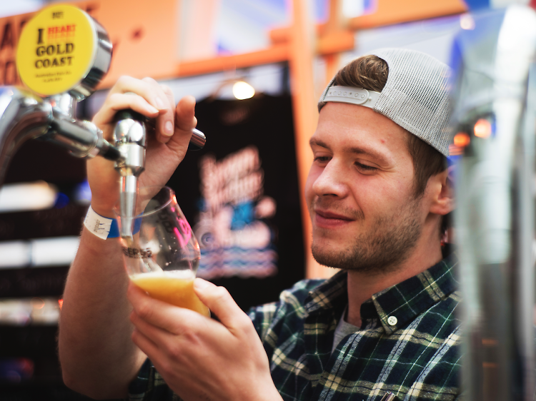 Go to a beer festival in a massive nightclub