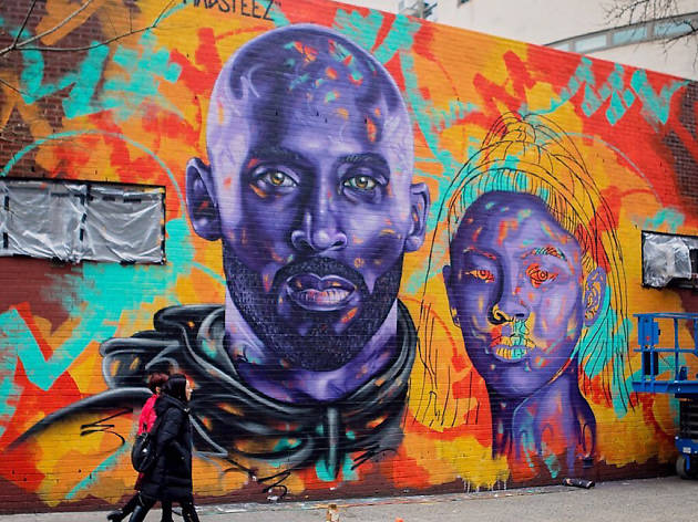 See the striking new Kobe Bryant mural nearing completion on the LES