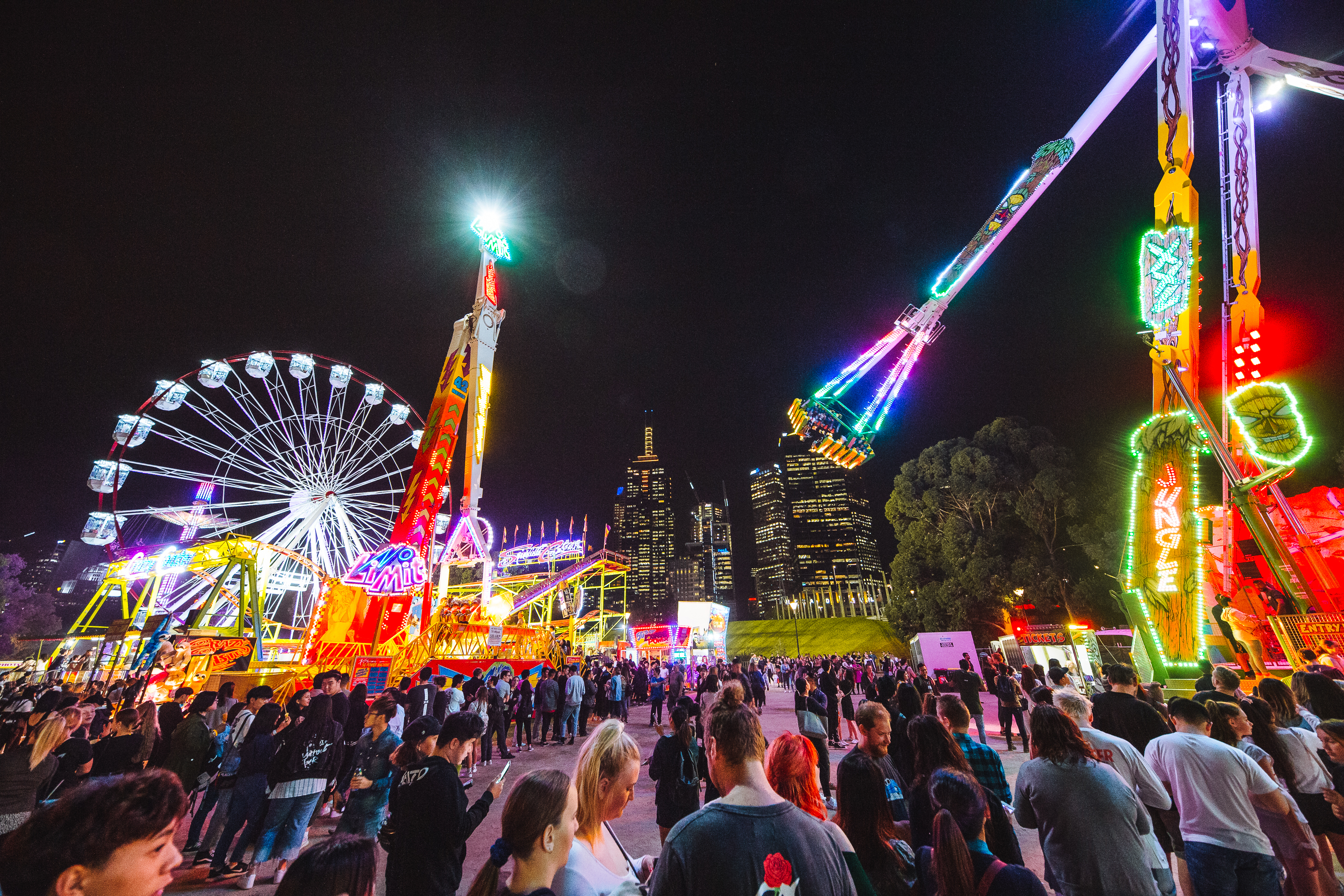 Moomba Festival night festivities