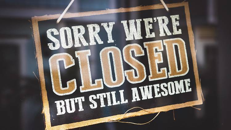 Closed sign - stock image