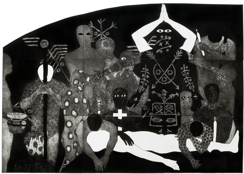 """NKAME: A Retrospective of Cuban Printmaker Belkis Ayón (1967-1999)"""