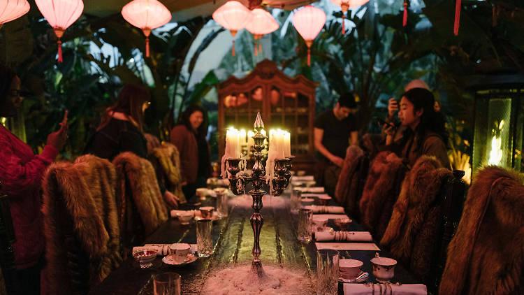 Lost Spirits Distillery tasting menu Fish or Flesh Los Angeles Arts District