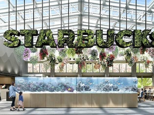 緑あふれるスターバックスが登場、植物園に初出店