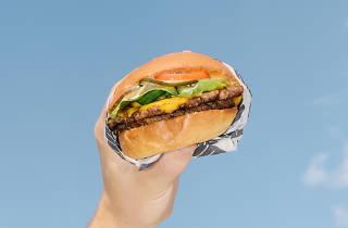NOMOO vegan burger restaurant Melrose Los Angeles