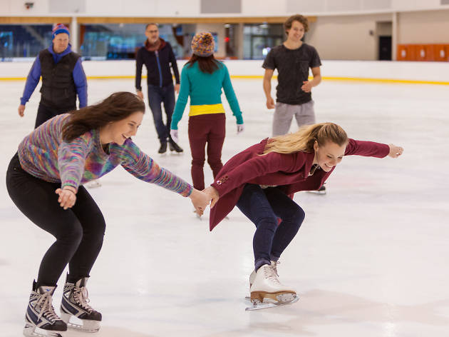 People skating at O'Brien Icehouse