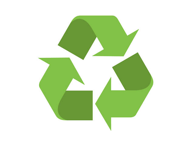 an emoji of the recycling symbol