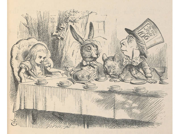 Alice at the Mad Hatter's Tea Party, Illustration for Alice's Adventures in Wonderland by John Tenniel (1865)